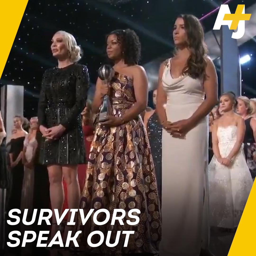 Survivors of Larry Nassar's sexual abuse gave a powerful speech at the 2018 ESPY Awards.