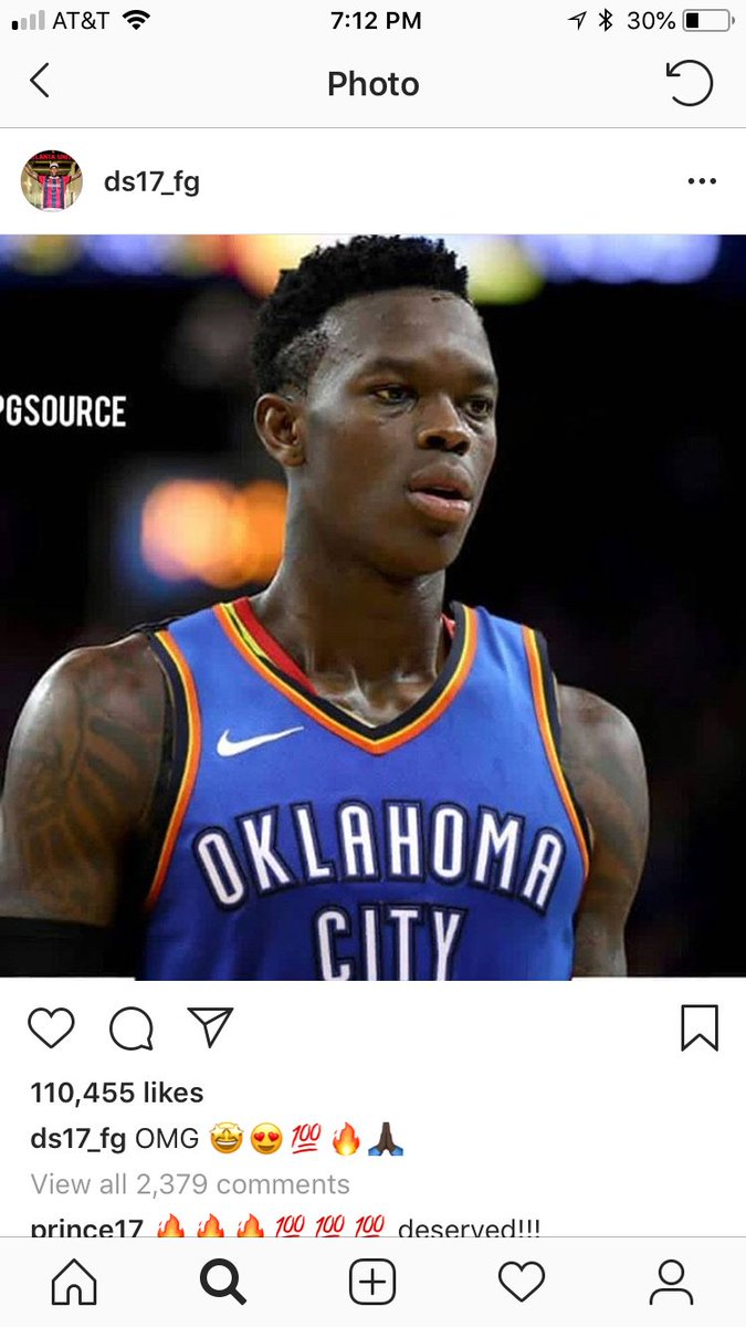 royce young on twitter dennis schroder appears to be excited about