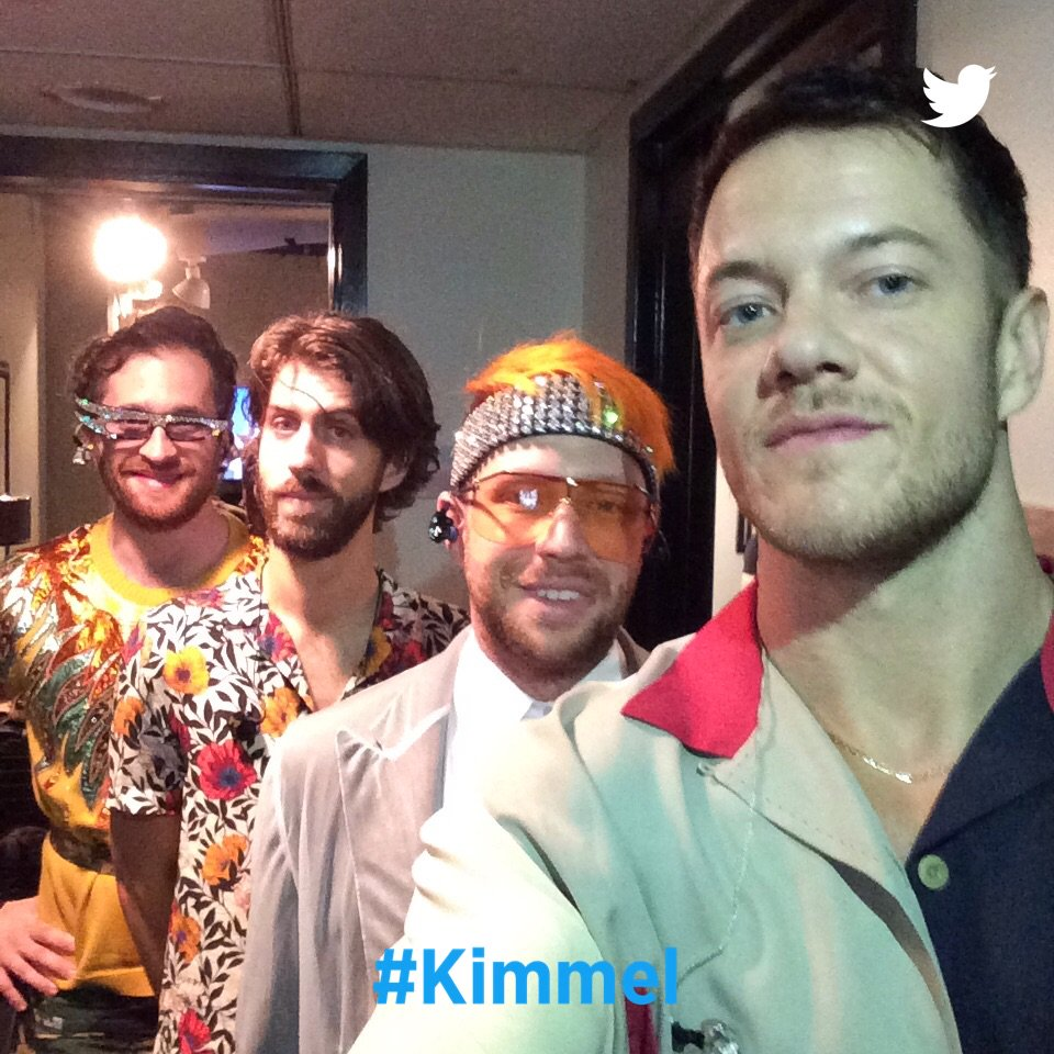 Backstage at #Kimmel with @ImagineDragons #Natural
