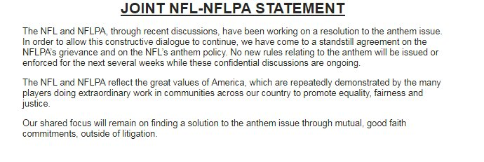 James H Williams On Twitter Nfl And Nflpa Release A Joint