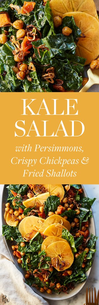 Kale Salad with Persimmons, Crispy Chickpeas and Fried Shallots https://t.co/PyWCB57nCV https://t.co/kgpx1DBMq2