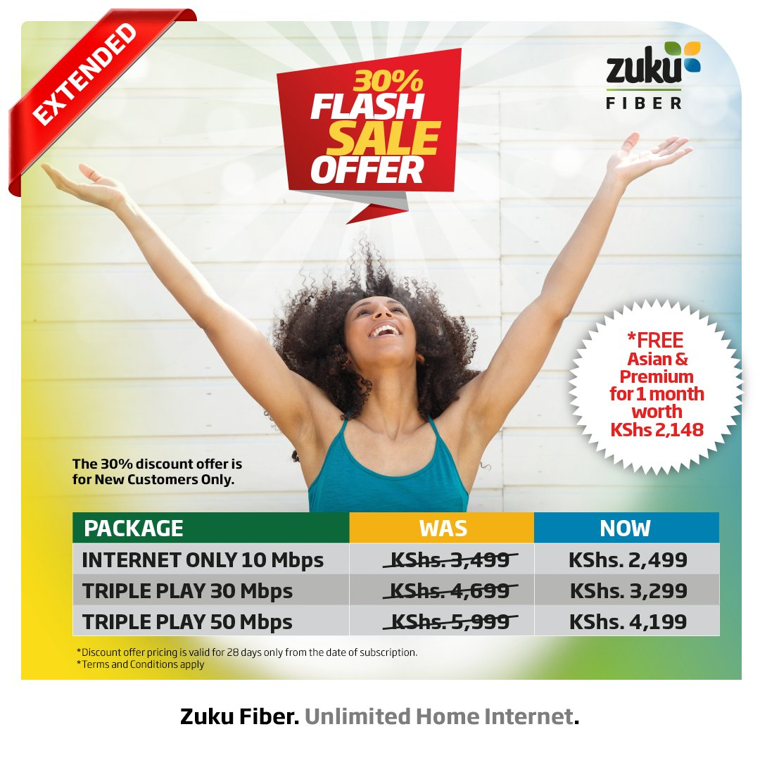Zuku On Twitter Get 30 Off Sign Up For Zuku Fiber Unlimited Home Internet Packages At Discount Rates Today Offer Valid For New Customers For 28 Days From The Date Of Subscription