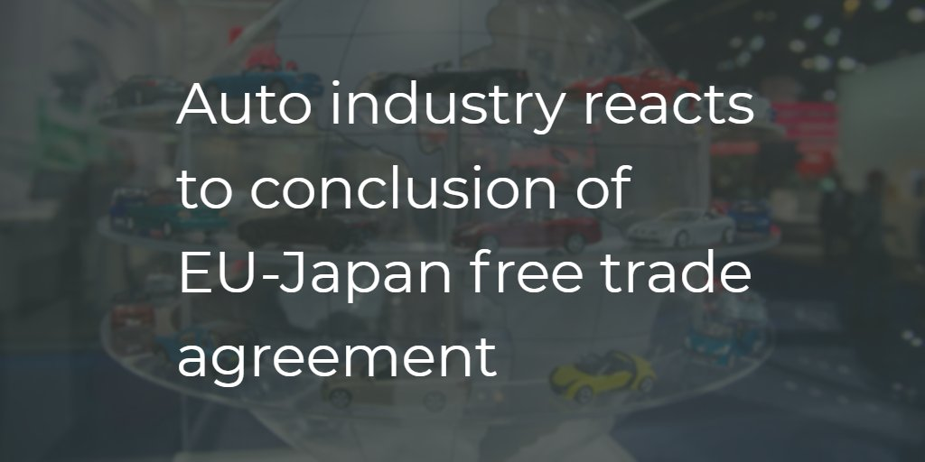Acea On Twitter Auto Industry Reacts To Conclusion Of Eujapan