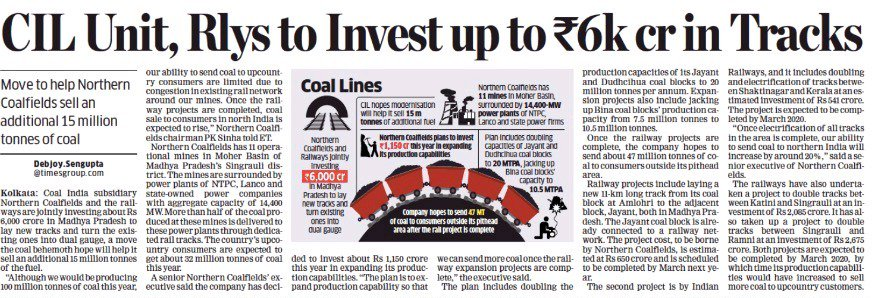 The partnership of Railways and Coal will ensure uninterrupted supply of coal for the energy sector; aiming to achieve PM @narendramodi's vision of providing 24 x 7 affordable Power for All.