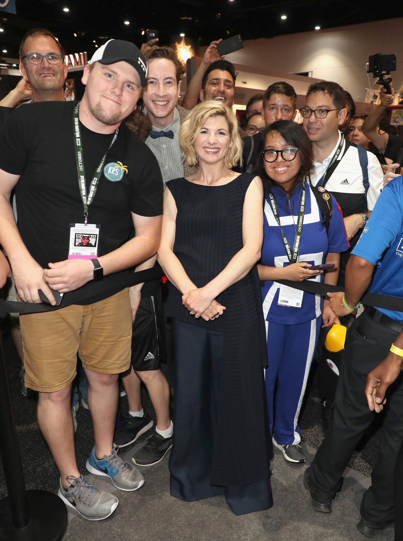 The #DoctorWho crew greets fans on the #SDCC floor. https://t.co/ANeEPBcJRg https://t.co/tMl8joqiRY