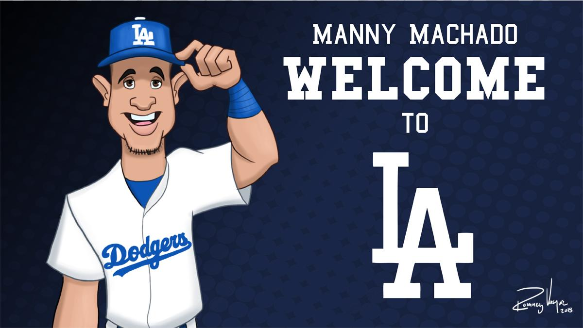 Ready?  By illustrator Romney Vasquez | #Dodgers