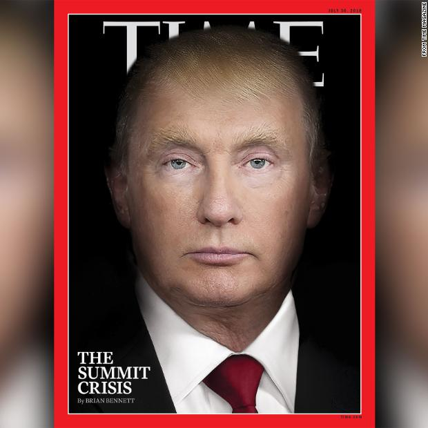 For the second month in a row, Time magazine has put a provocative photo illustration of President Trump on its cover -- this time, morphing him into Russian President Vladimir https://t.co/Qa1laOMo0j