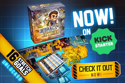 ... the Jetpack Joyride board game Kickstarter campaign! Thank you to everyone who has pledged so far. Come join the other happy backers here! ...