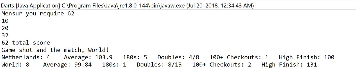 @ochepedia Here an interesting match to analyze. Seems amazing to get only 8 darts at double in 12 legs with these stats.