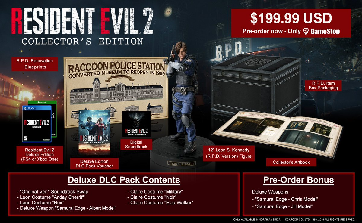 Resident Evil 2 Collector's Edition Announced