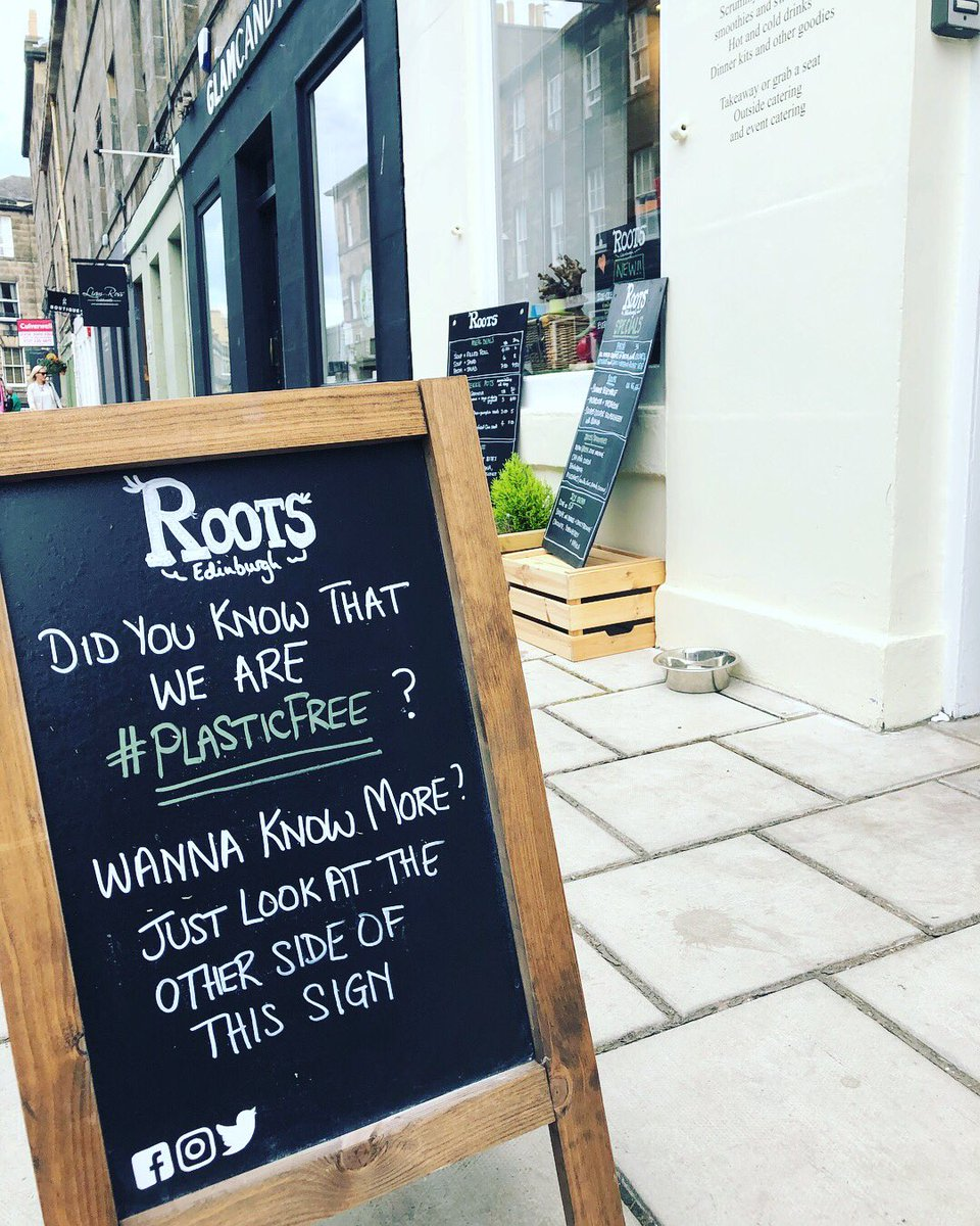 Did you know that @RootsEdin is #plasticfree and have started a campaign in Edinburgh's West End to support more businesses to #goplasticfree not just in July but for good!  #BeTheChange ❤️ 🌎 🍃  #edinburghswestend #takeacloserlook #hiddengems #edinburghlife #thisisedinburgh