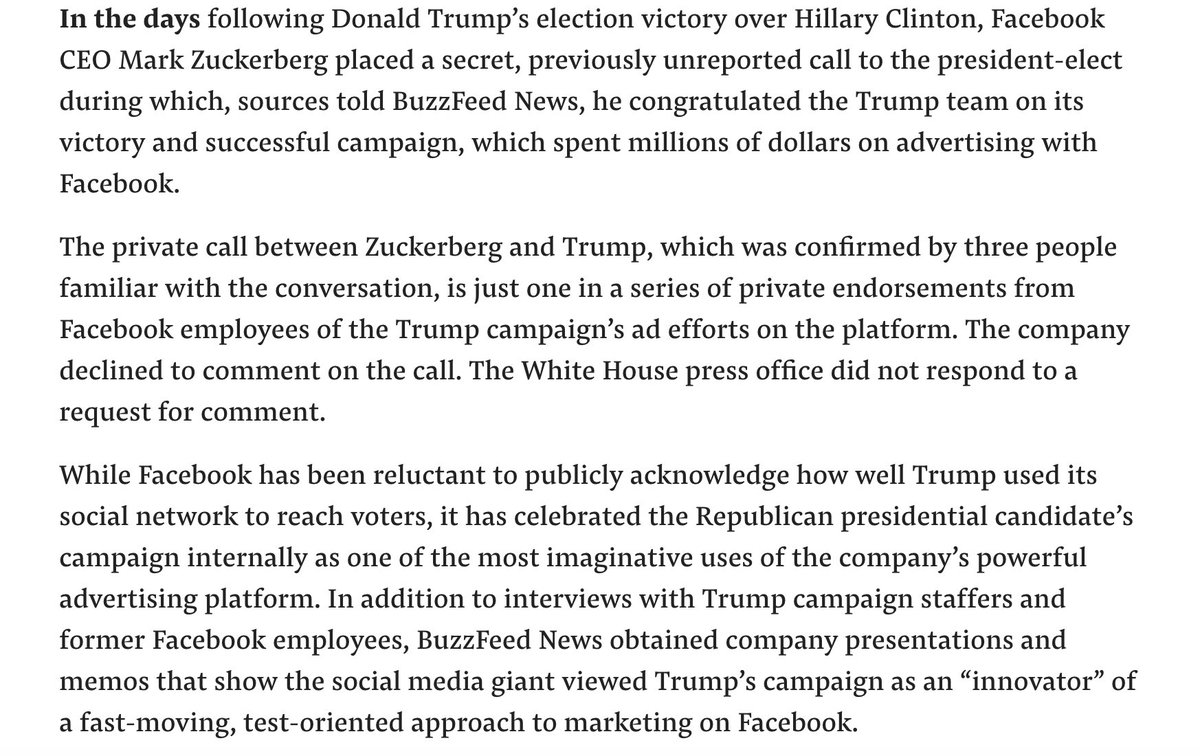 Buzzfeed story on Facebook's 2017 Trump-enthusiasm https://t.co/A0hPX0i2QQ