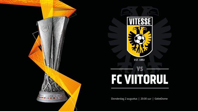 In de tweede voorronde van de UEFA @EuropaLeague neemt #Vitesse het op tegen FC Viitorul Constanța uit Roemenië. Photo