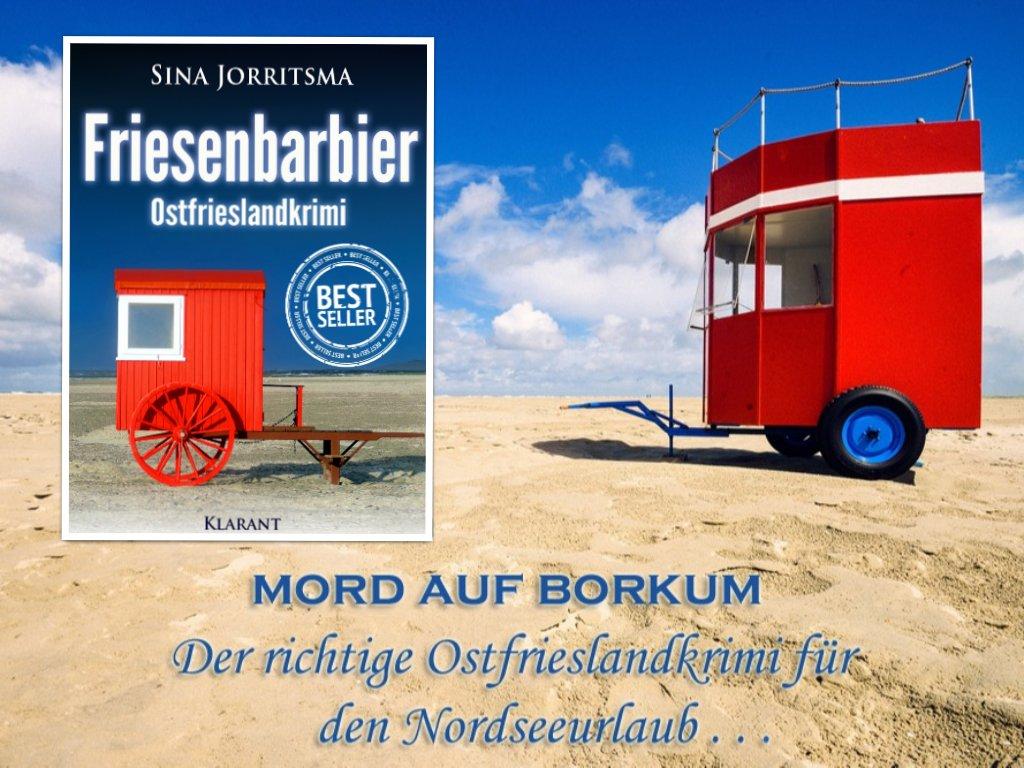 #Buchtipp FRIESENBARBIER von #SinaJorritsma Nicht nur auf #Amazon sondern auch auf #Weltbild steht der neue #Ostfrieslandkrimi von der Insel #Borkum in den E-Book #Bestsellerlisten!  Wir sagen danke an alle begeisterten #Leser.. https://amzn.to/2JnefK1 http://bit.ly/2zJ3J0a