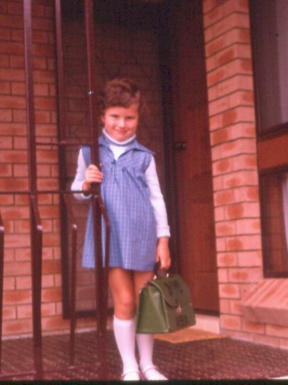 Just came across this #FlashbackFriday pic. The year is 1978. First day of kindergarten heading off to @SackvilleStPS in Sydney. Note the very cool, lime green ABBA lunch box. Too cool for school, for sure. Photo