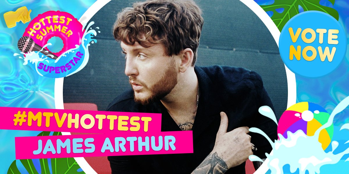 😍 @JamesArthur23 has already stolen our hearts but will he steal the MTV Hottest Summer Superstar crown? 👑 Vote for him using #MTVHottest James Arthur from 7pm 👏