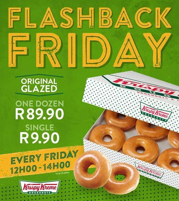 Are you ready for #FlashbackFriday? We are! See you between 12pm & 2pm. Rosebank and Gateway only #KrispyKreme Photo