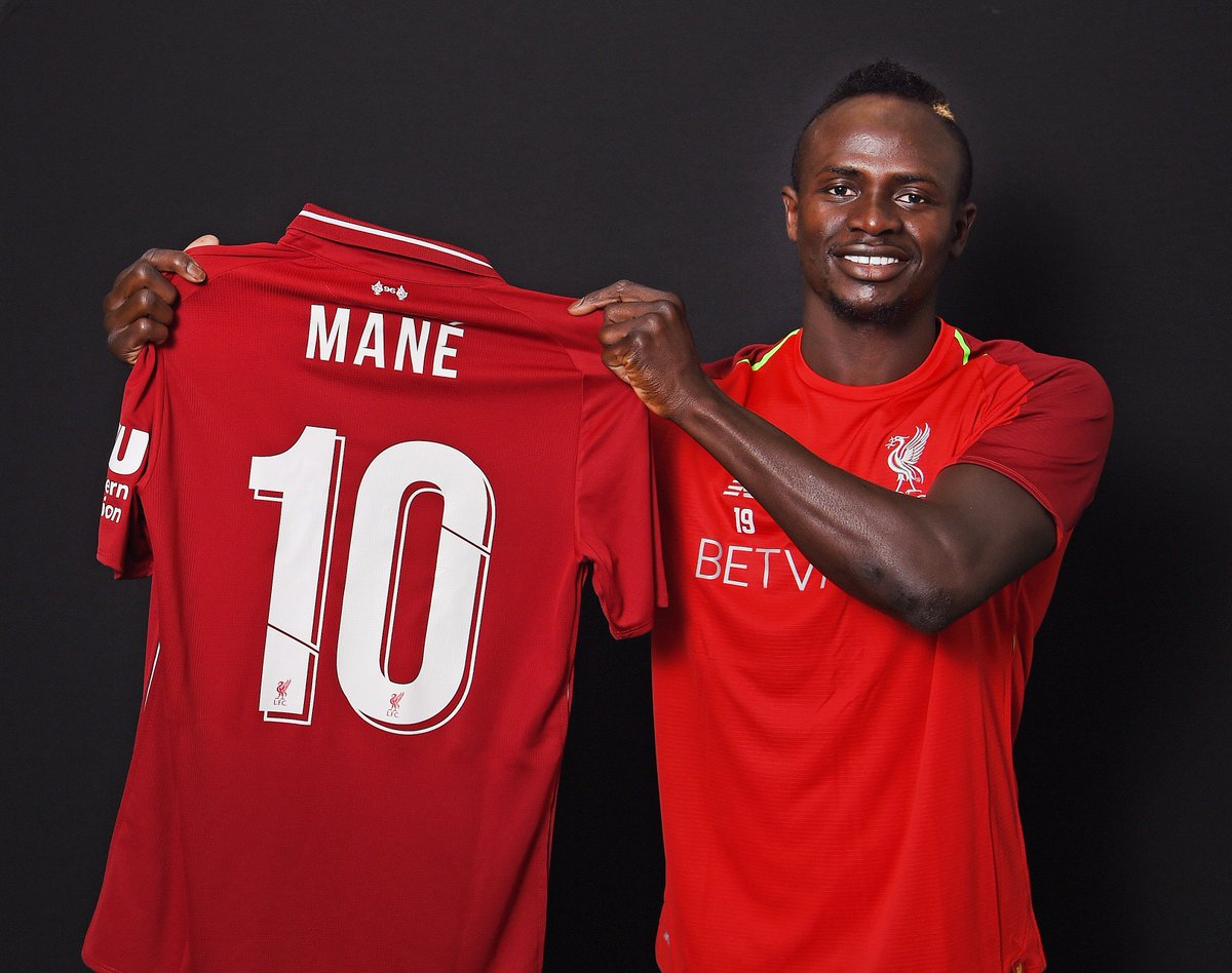 Sadio Mane will wear the No.10 shirt for #LFC for the 18/19 season. 🔴  https://t.co/Z1oIR836lM