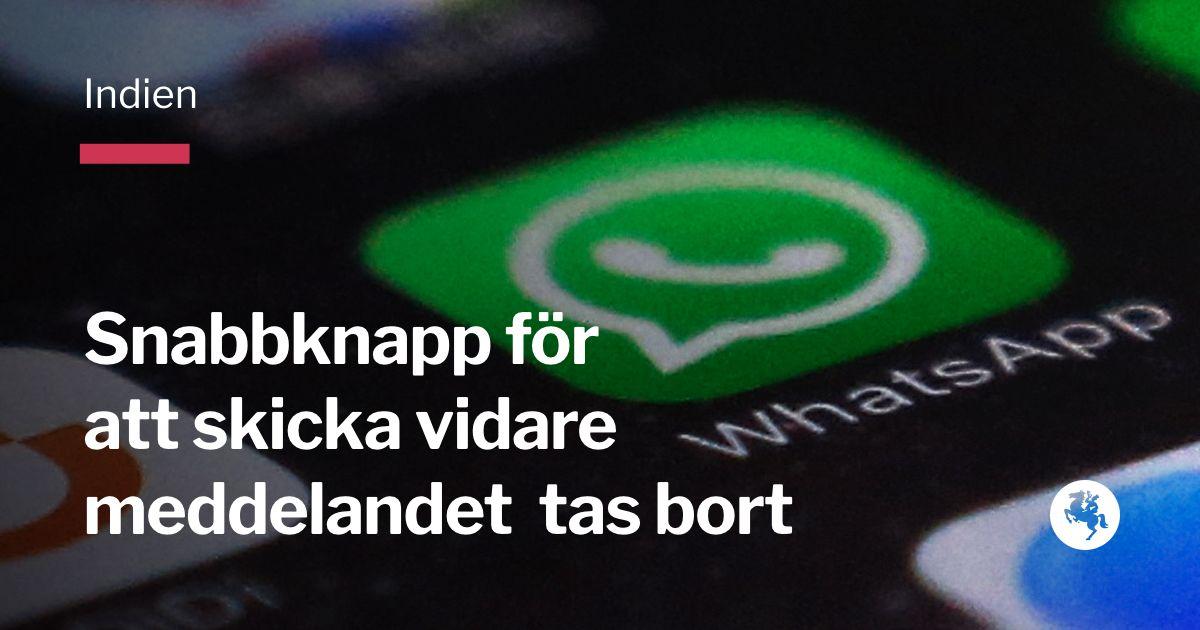 Snabbknapp i whatsapp bort efter lynchningar
