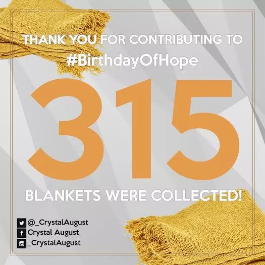 #FlashBackFriday 2016 a 315 blankets were collected and a total number of R3370 was generated that enabled #BOH to purchase groceries to distribute to the less fortunate🙏💕💐 Photo