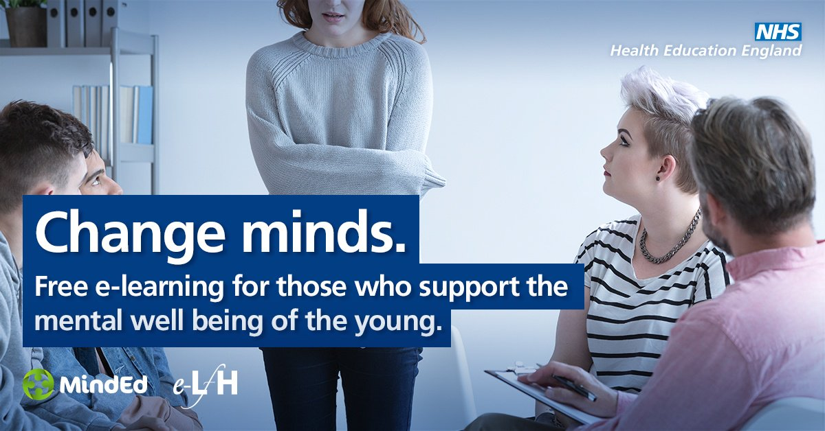 Access our free @HEE_TEL MindEd e-learning programme which is an educational resource on children and young people's #mentalhealth for all adults. Take a look at: https://t.co/zhzaaSmWrW