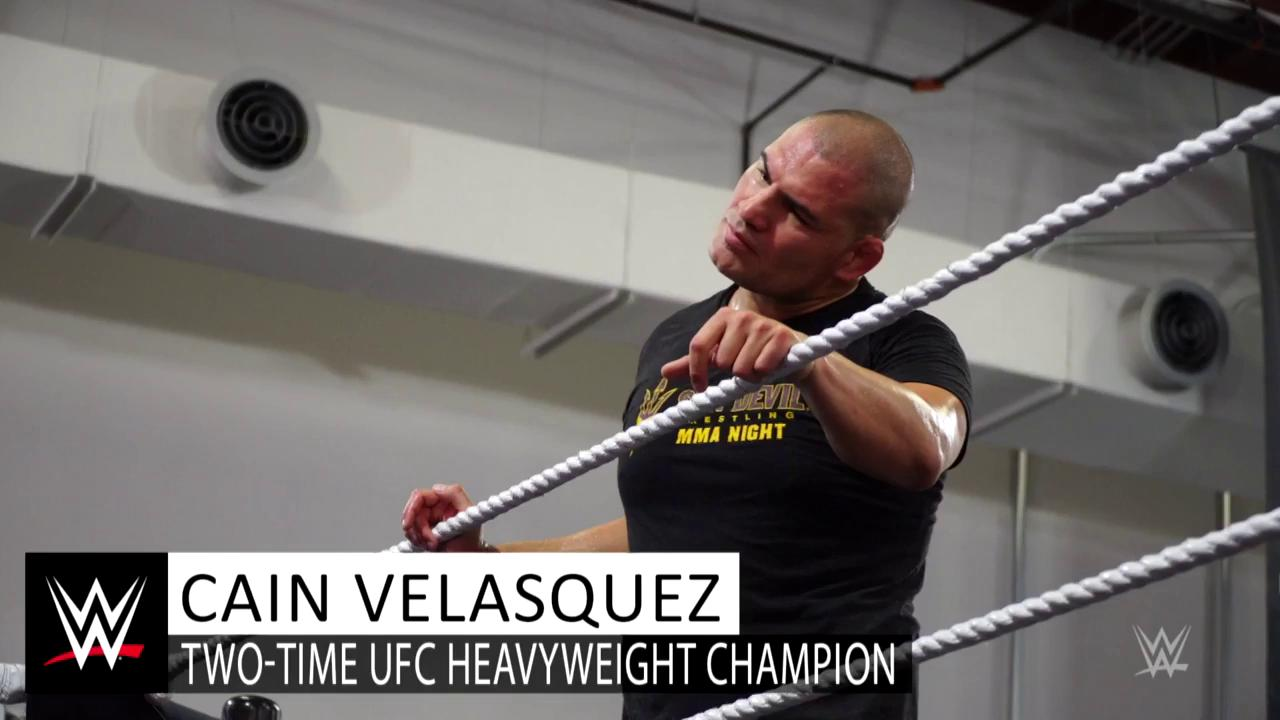 Two-time @ufc Heavyweight Champion @cainmma recently got to mix it up in the ring at the @WWEPerformCtr! https://t.co/R60DAqfK6a