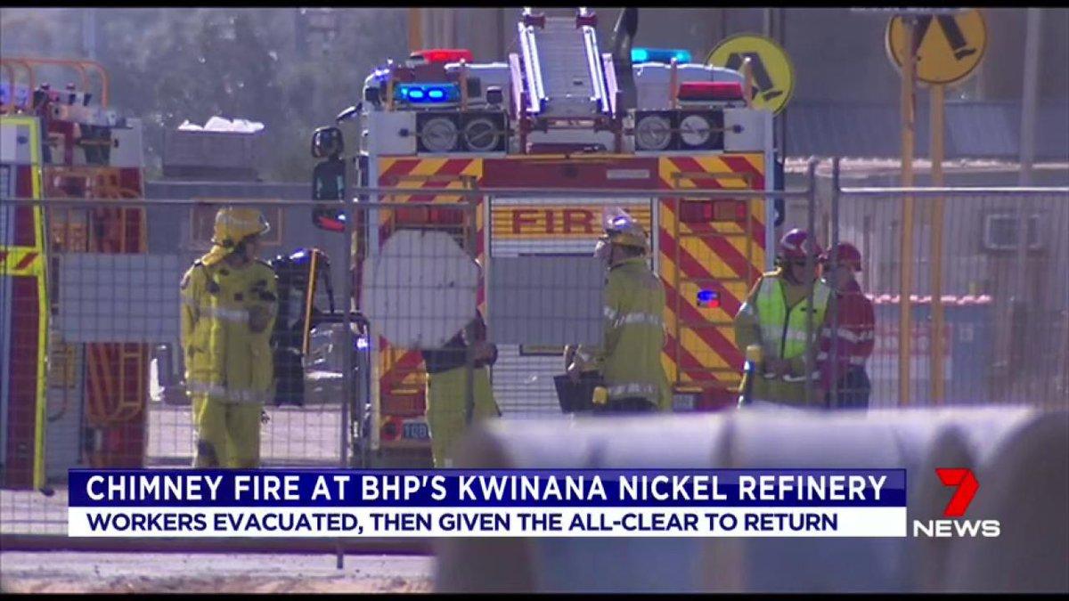 Kwinana Beach : BHP nickel refinery Kwinana Beach News