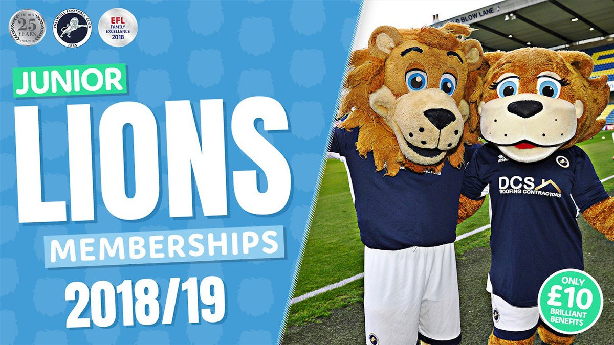 🦁 There are a range of brilliant benefits when you purchase a Junior Lions membership for the 2018/19 campaign! View here ➡️ bit.ly/2K1CcuN #Millwall 🦁