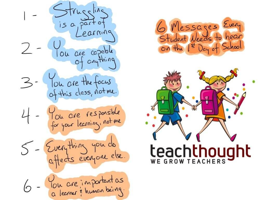 6 Messages Every Student Should Hear On The First Day Of School - bit.ly/2eVczLp