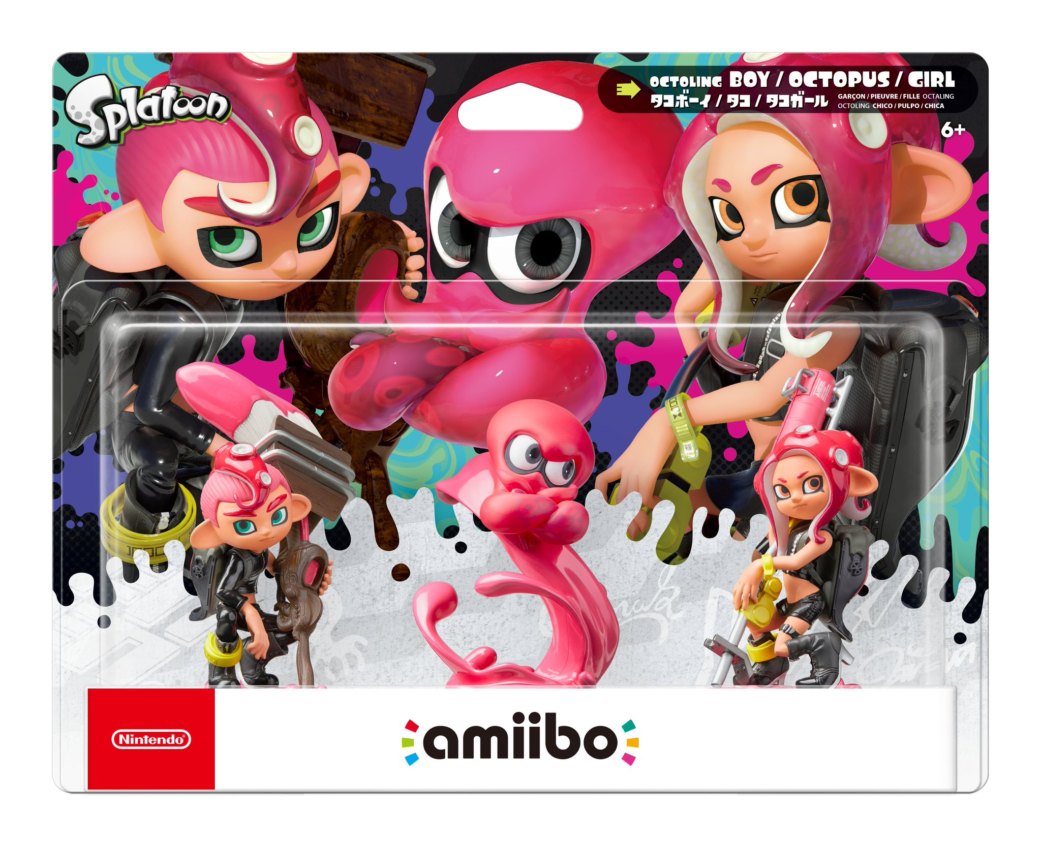 Splatoon 2 Octoling Amiibo 3-Pack Gets a Release Date - IGN