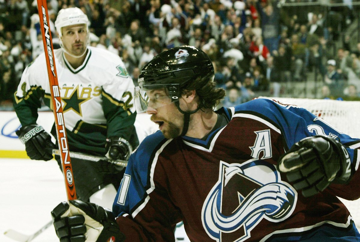 Peter Forsberg captured the Calder Trophy (1994-95), Hart Trophy (2002-03) and Art Ross Trophy (2002-03), one of eight players to win each award at least once. The others: Bernie Geoffrion Bobby Orr Bryan Trottier Mario Lemieux Alex Ovechkin Evgeni Malkin Patrick Kane #NHLStats