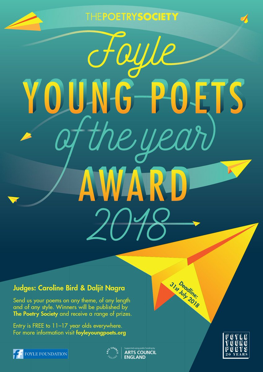 test Twitter Media - Calling all 11-17 year old writers! This is your penultimate weekend to enter the #FoyleYoungPoets of the Year Award. It's free and former winners say it changed their lives. If you are 11-17 or know someone who is, help spread the word - enter by 31 July: https://t.co/BYvO8ywy1t https://t.co/nd0TJoorJG