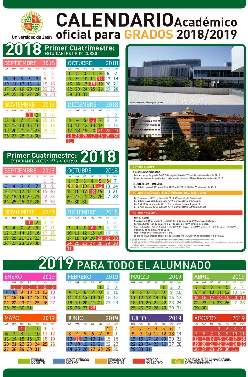Calendario Ujaen.Universidad De Jaen On Twitter Calendario Academico Oficial Para