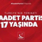 #SaadetPartisi17yaşında Twitter Photo