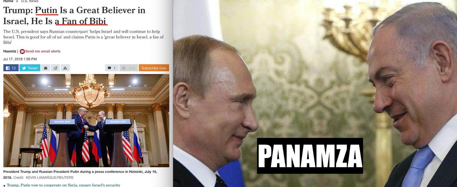 Poutine «croit en Israël» et admire Netanyahou