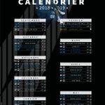 Image for the Tweet beginning: 🗓️ CALENDRIER 2018/2019 🗓️  Découvrez dès