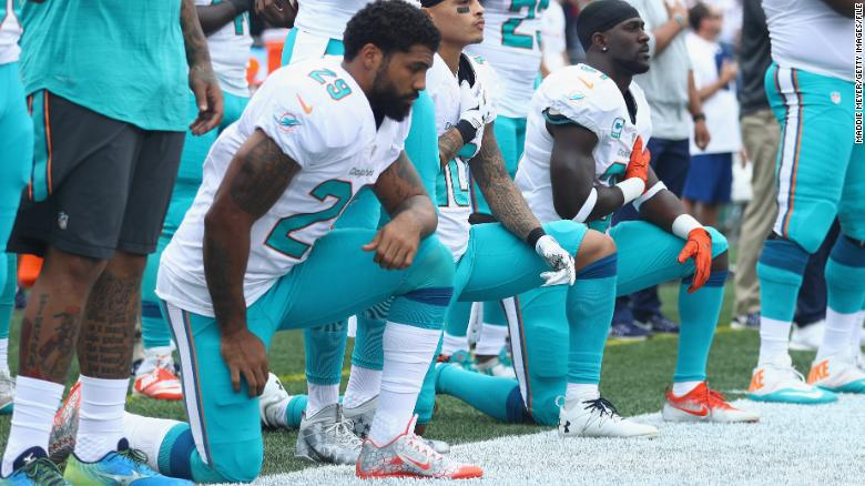 The NFL is putting its national anthem policy on hold as talks with players continue https://t.co/2S9x9ia5E7 https://t.co/4YewnaWOVK