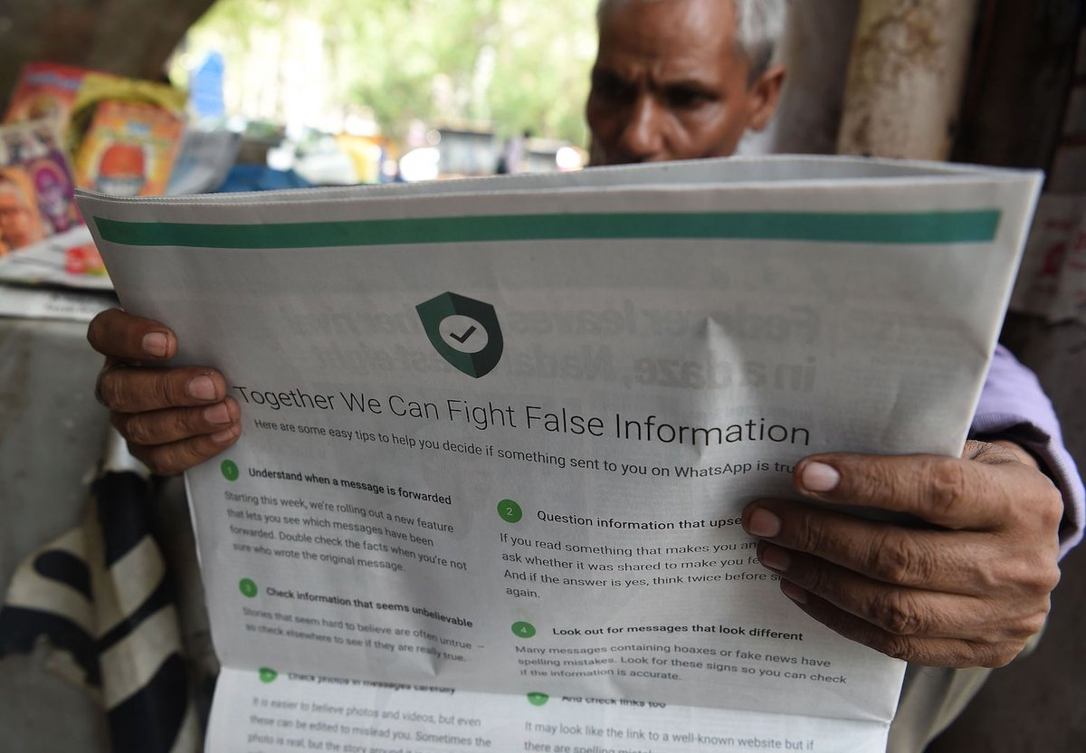 India is threatening to sue WhatsApp over mob lynchings linked to fake news https://t.co/CI6WSeUGEg