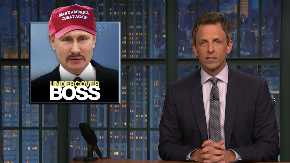 Seth Meyers: Putin visiting DC would be 'worst-ever episode of Undercover Boss' https://t.co/ReQHrGsqKJ https://t.co/kbiJ2WKubV