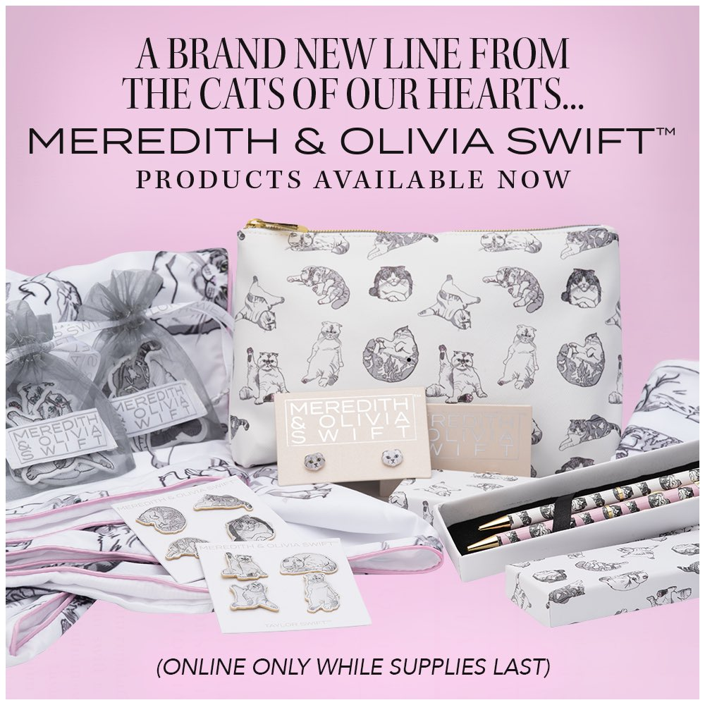 Obsessed is an understatement 😻😻😻  Shop new Meredith & Olivia Swift items here: https://t.co/07lN7o84T1