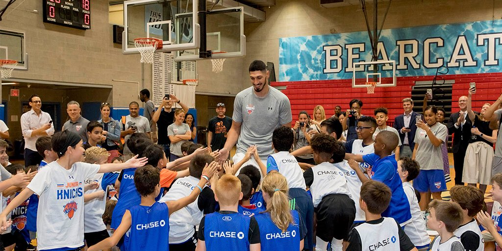 For the next generation. #ThisIsWhyWePlay  📍@juniorknicks summer camp.