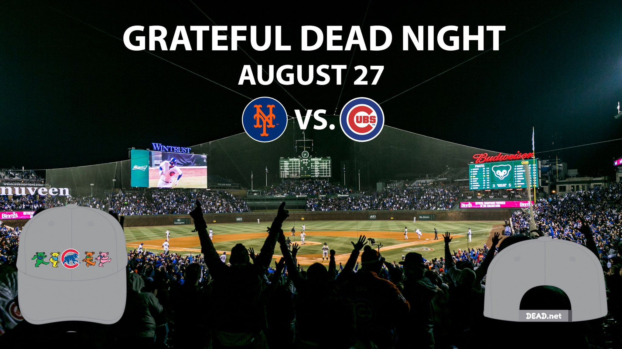 Calling all Deadheads! Join us for Grateful Dead Night at #WrigleyField August 27: https://t.co/XlCJ6j6qrj https://t.co/quZlExyqOO