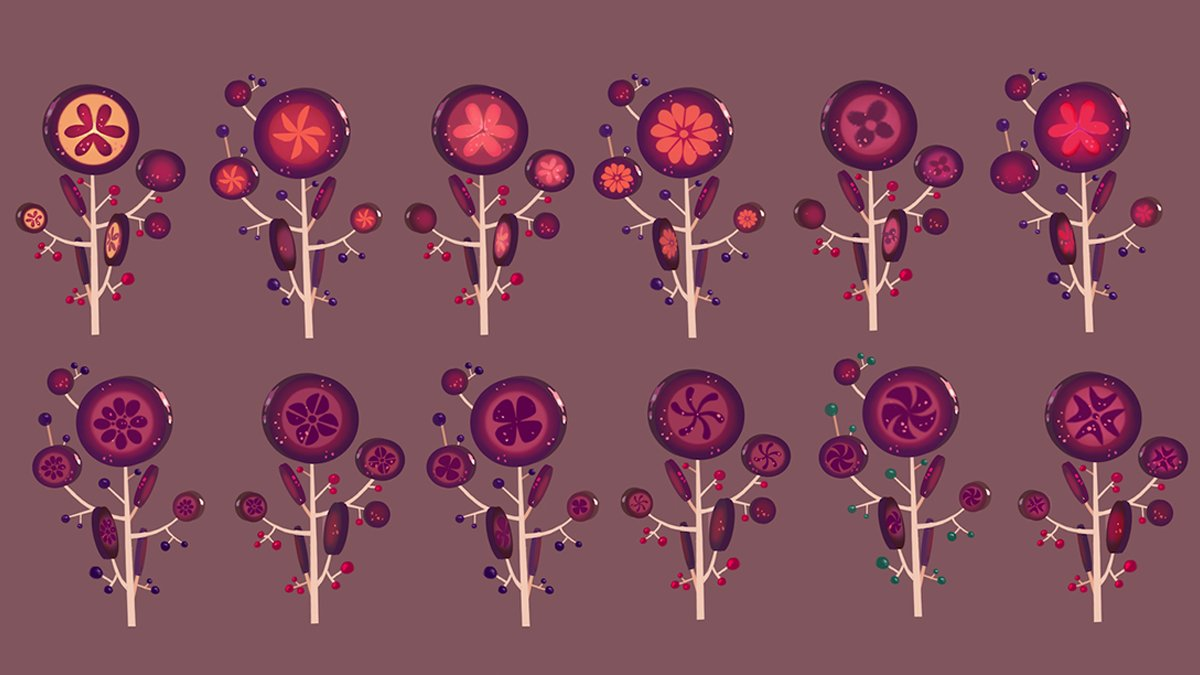 Treat yourself to some visual development art for lollipop trees from the candy-themed racing game Sugar Rush in #WreckItRalph! #NationalLollipopDay  <br>http://pic.twitter.com/Kn8QbiGlA6