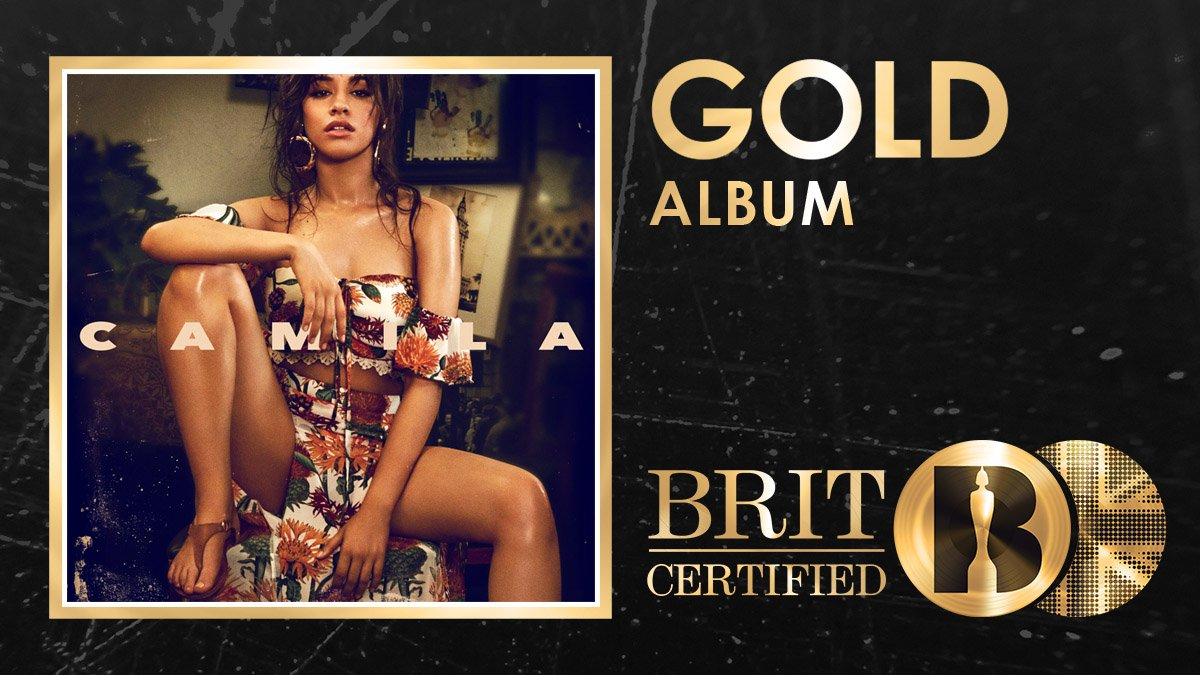 💖 Things will never be the same again for @Camila_Cabello! Her debut album Camila is now #BRITcertified Gold! Congrats! 🇬🇧📀