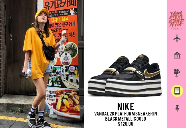 ... wearing   VETEMENTS x  TOMMY HILFIGER Women s Socks in White  NIKE  Vandal 2K Platform Sneaker in Black Metallic Gold… https   t.co ptTeLCmX12