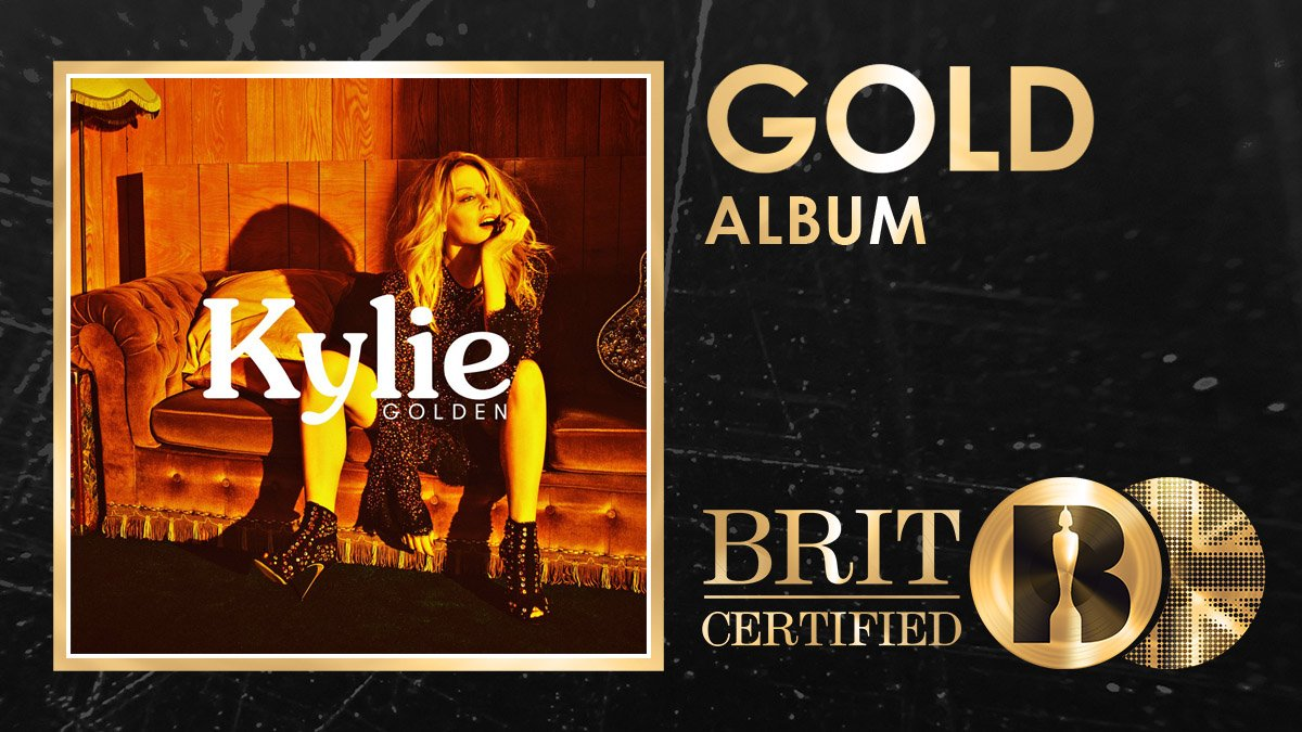 ✨@kylieminogues latest album really *is* Golden after being #BRITcertified Gold this week! 🇬🇧📀