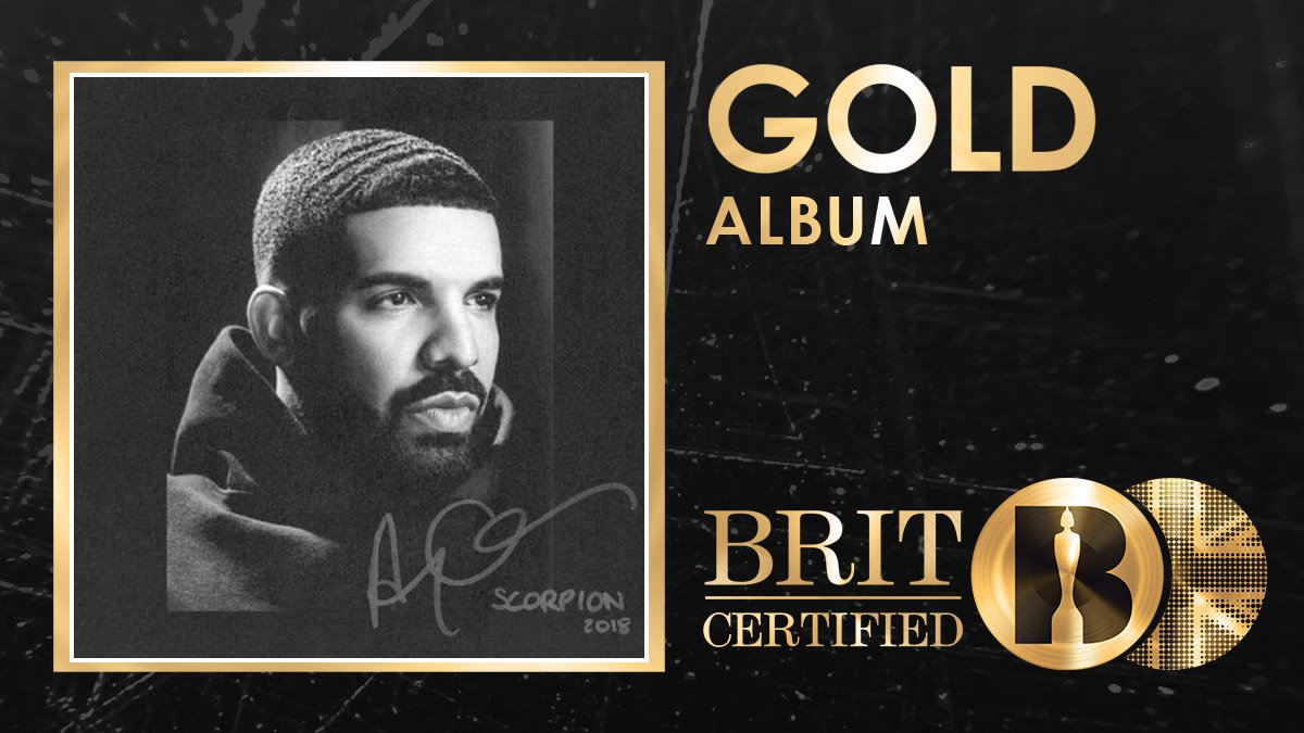 🦂 In less than 3⃣ weeks, @Drakes Scorpion has been #BRITcertified Gold! 🇬🇧📀