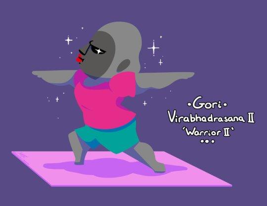 Aggressive yoga 🧘♀️ https://t.co/AwPcGjFRL6 (by raygirlramblings) #Aggretsuko