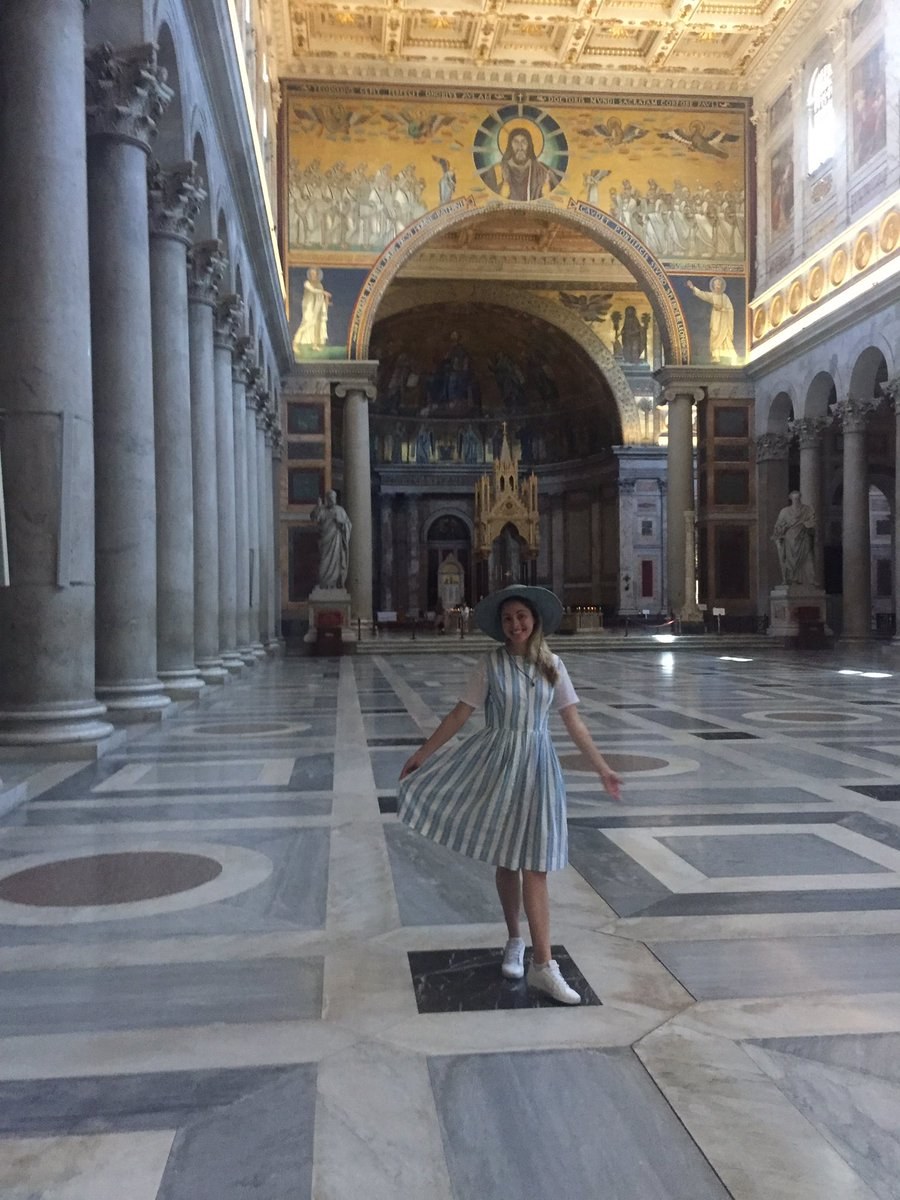 Hello from St Peters Basilica outside the walls, Rome. #travelphotography