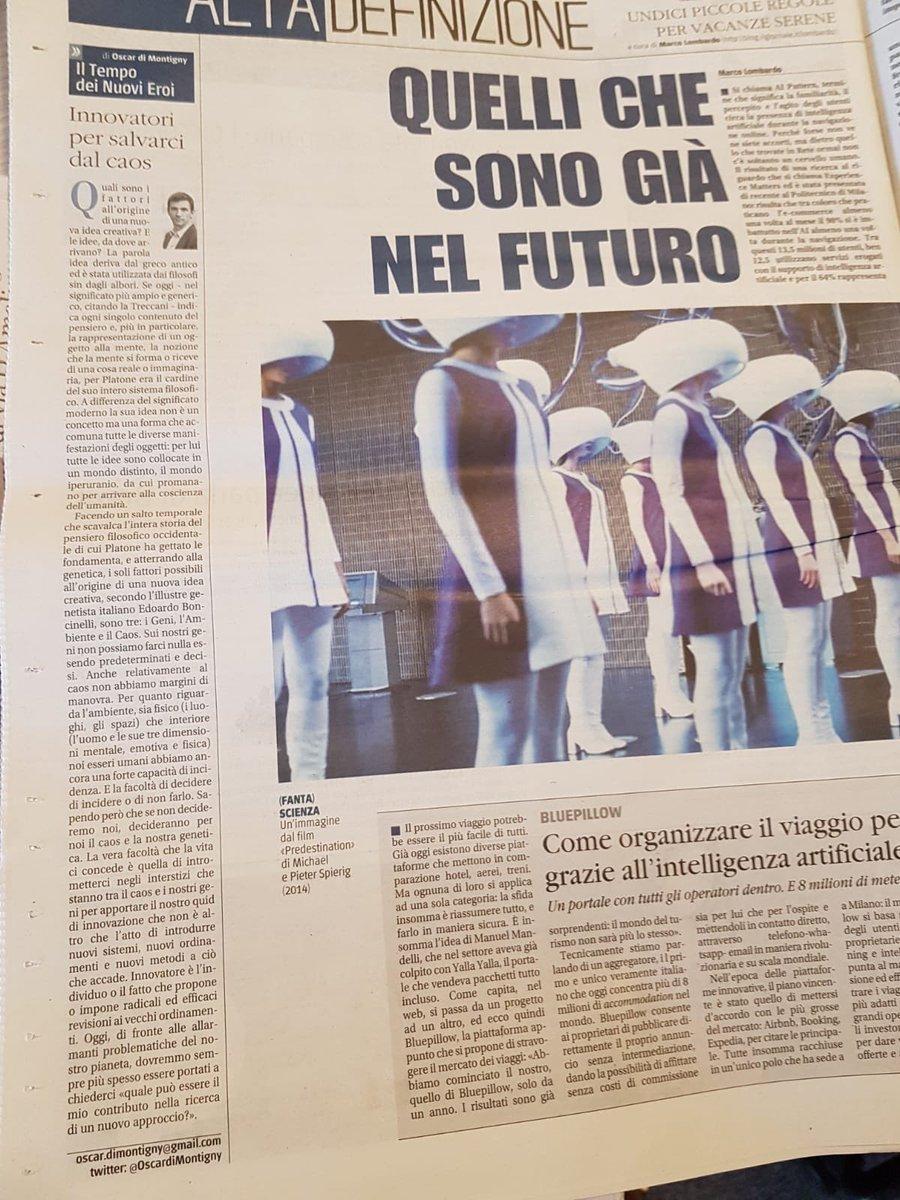 """Su Il Giornale di oggi... """"Innovatori per salvarci dal caos"""""""